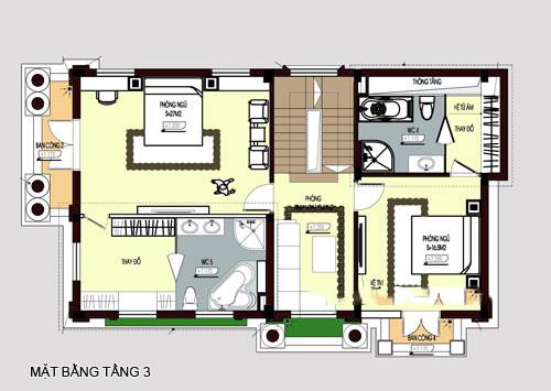 mẫu biệt thự đẹp 4 tầng phong cách cổ điển. 4
