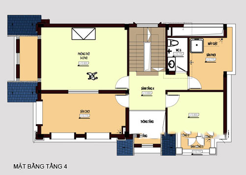 mẫu biệt thự đẹp 4 tầng phong cách cổ điển. 5