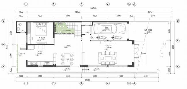Mẫu biệt thự đẹp hiện đại 2 tầng 8x22,5m. 1
