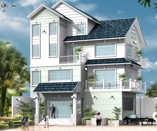 Mẫu biệt thự nhà đẹp 3 tầng 2 mặt tiền