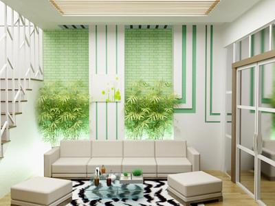 Phòng khách - mẫu biệt thự nhà vườn xanh mướt