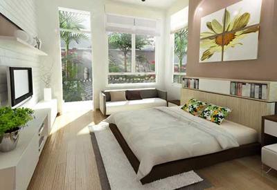 Phòng ngủ - mẫu biệt thự nhà vườn xanh mướt