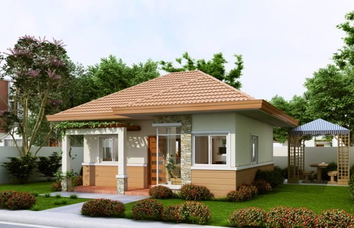 Phối cảnh kiến trúc - mẫu biệt thự nhà vườn xanh