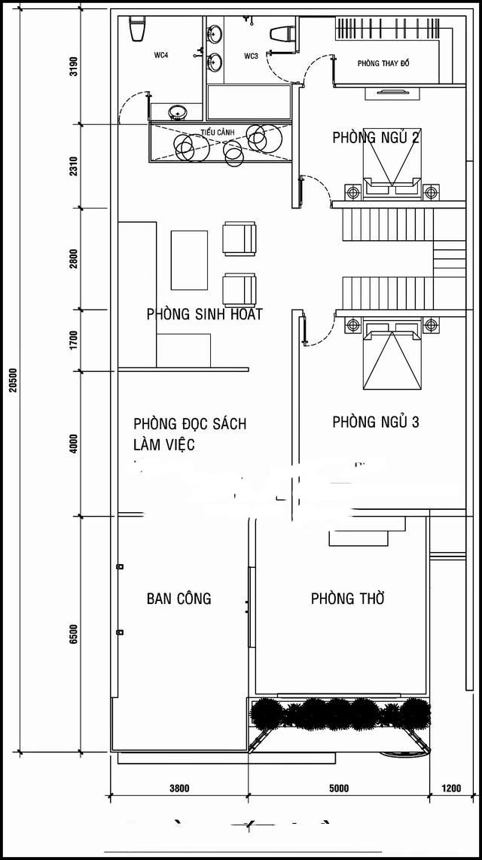 Mẫu biệt thự phố đẹp 3 tầng hiện đại 10x20m. 2
