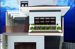 Mẫu biệt thự phố đẹp 3 tầng hiện đại 10x20m