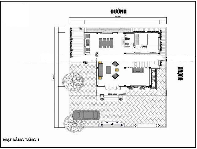 Mẫu nhà biệt thự hiện đại 2 tầng 110m2. 1