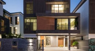 Mẫu thiết kế nhà phố 3 tầng hiện đại đơn giản 2