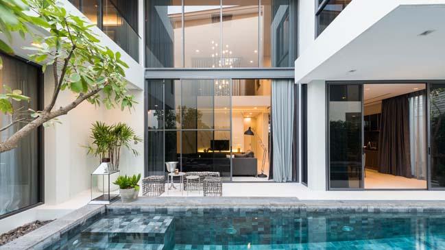 Mẫu thiết kế biệt thự 3 tầng hiện đại đơn giản 4