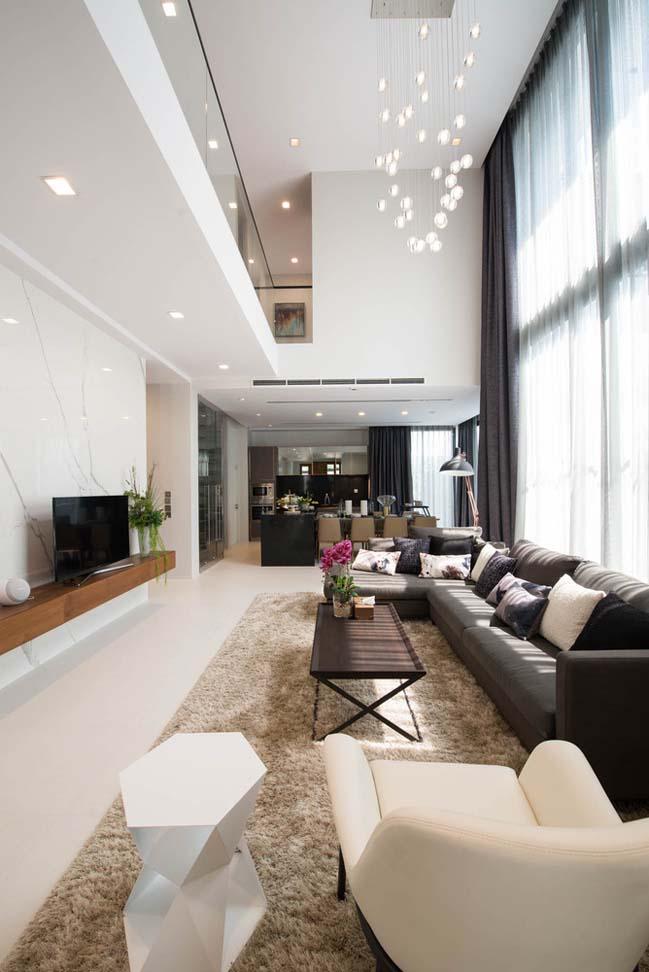 Mẫu thiết kế nhà phố 3 tầng hiện đại đơn giản 5