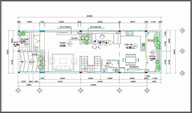 Mẫu thiết kế biệt thự 3 tầng kiểu Pháp 6x15m. 2