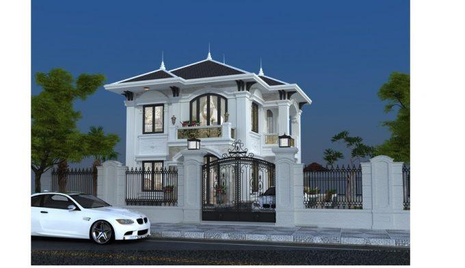 Mẫu thiết kế biệt thự đẹp diện tích 120m2 ở Bắc Giang - 1