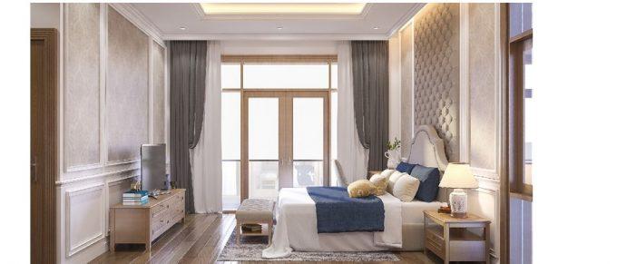 Mẫu thiết kế biệt thự đẹp diện tích 120m2 ở Bắc Giang - Phòng ngủ 1