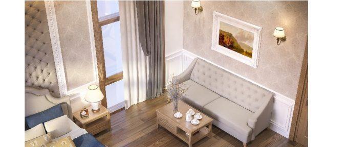 Mẫu thiết kế biệt thự đẹp diện tích 120m2 ở Bắc Giang - Phòng ngủ 3