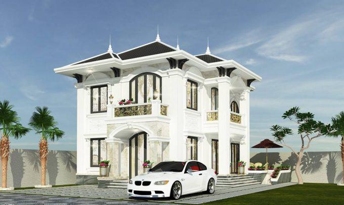 Mẫu thiết kế biệt thự đẹp diện tích 120m2 ở Bắc Giang - 2