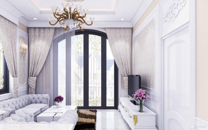 Mẫu thiết kế biệt thự đẹp diện tích 120m2 ở Bắc Giang - Phòng khách 2