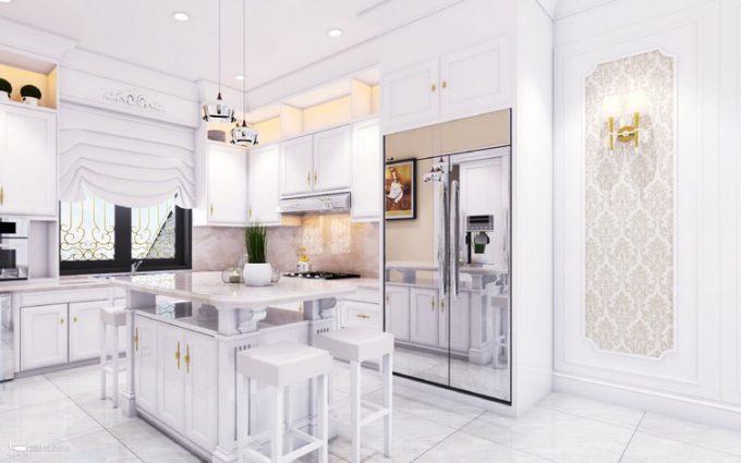 Mẫu thiết kế biệt thự đẹp diện tích 120m2 ở Bắc Giang - Phòng bếp 2