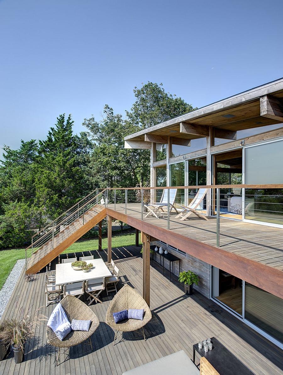 Thiết kế biệt thự đẹp 2 tầng hiện đại bằng kính tại Thái Lan không gian rộng mở - 6