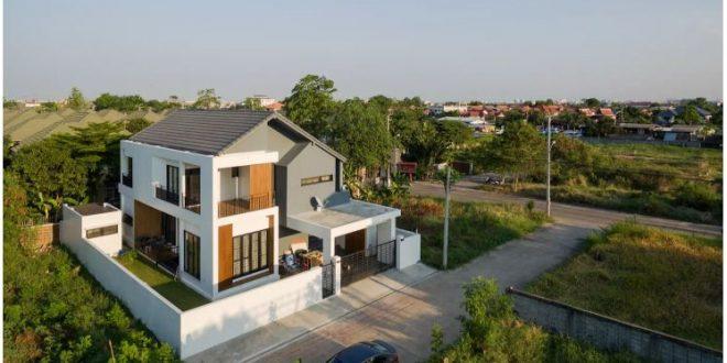 Mẫu thiết kế biệt thự đẹp 2 tầng hiện đại