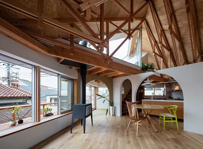 Mẫu thiết kế biệt thự đẹp 2 tầng kiến trúc độc lạ 7