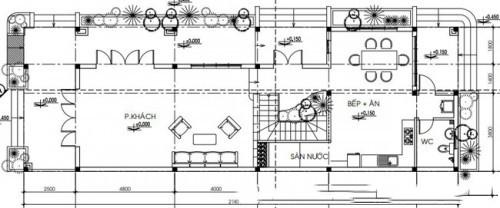 Mẫu thiết kế biệt thự đẹp 2 tầng mái thái. 1