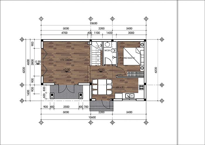 Mẫu thiết kế biệt thự đẹp 2 tầng mái thái 66m2. 2