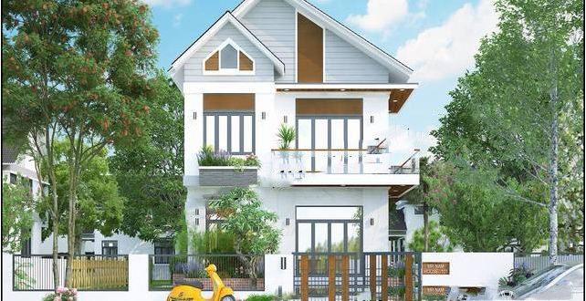 Mẫu thiết kế biệt thự đẹp 2 tầng mái thái 9x13m