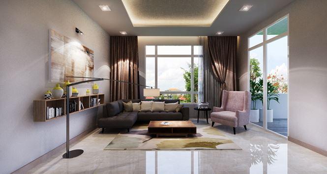 Phòng sinh hoạt chung -Mẫu thiết kế biệt thự đẹp 2 tầng