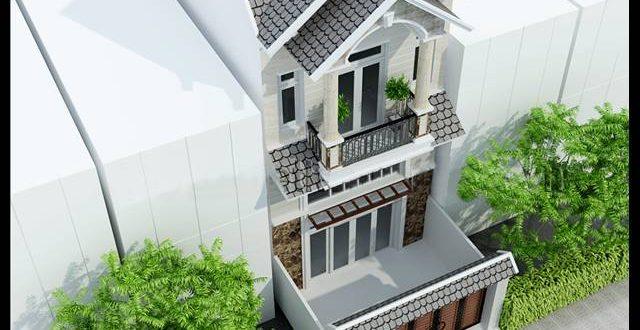 Mẫu thiết kế biệt thự đẹp 2 tầng tân cổ điển - Phối cảnh 2