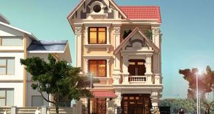 Mẫu thiết kế biệt thự đẹp 3 tầng 8x14m