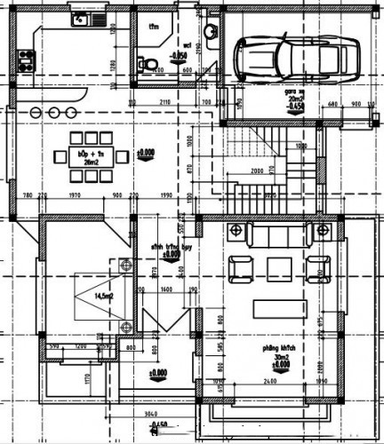 Mẫu thiết kế biệt thự đẹp 3 tầng ấn tượng. 1