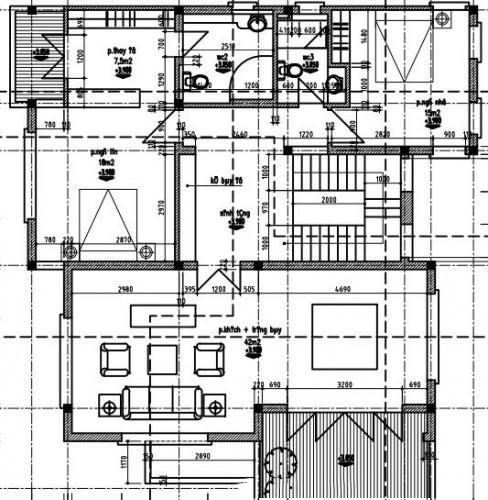 Mẫu thiết kế biệt thự đẹp 3 tầng ấn tượng. 2