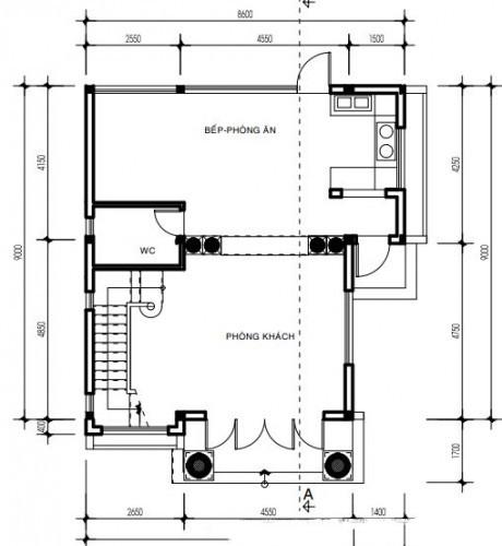Thiết kế biệt thự đẹp bán cổ điển cao 3 tầng sang trọng - 2