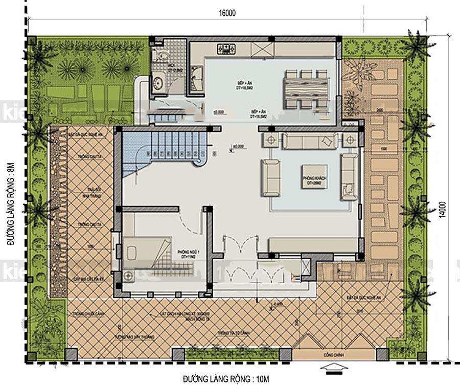 Mẫu thiết kế biệt thự đẹp 3 tầng bán cổ điển cao cấp - 2