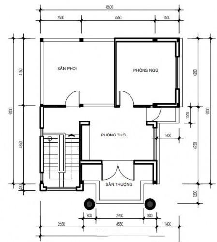 Thiết kế biệt thự đẹp bán cổ điển cao 3 tầng sang trọng - 4