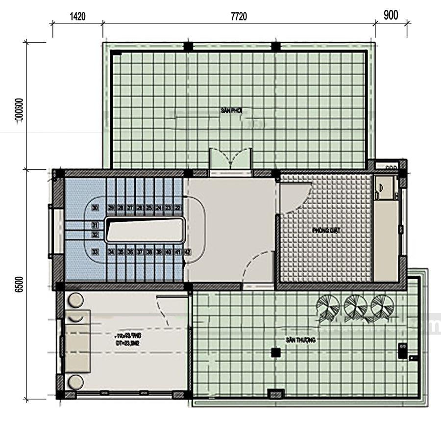 Mẫu thiết kế biệt thự đẹp 3 tầng bán cổ điển cao cấp - 4
