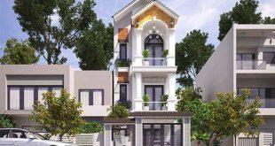 Mẫu thiết kế biệt thự đẹp 3 tầng bán cổ điển - Phối cảnh 3