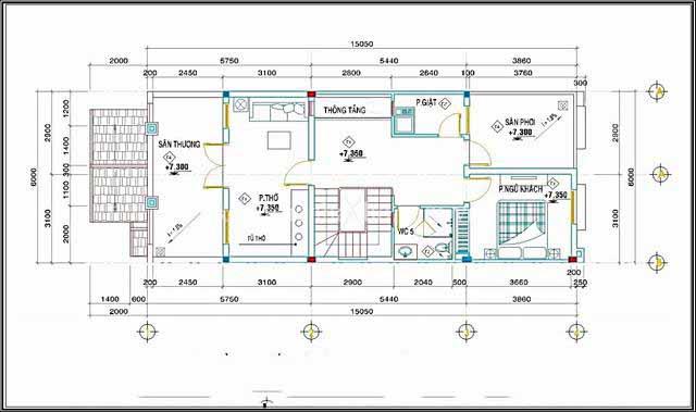 Mẫu thiết kế biệt thự đẹp 3 tầng lung linh. 3