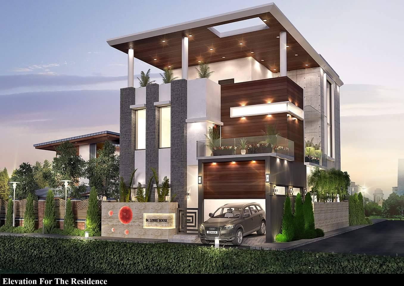 Mẫu thiết kế biệt thự đẹp 3 tầng lung linh