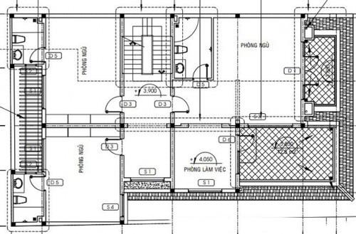 Mẫu thiết kế biệt thự đẹp 3 tầng mái Thái. 2