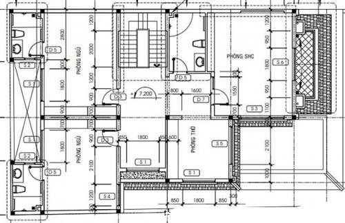 Mẫu thiết kế biệt thự đẹp 3 tầng mái Thái. 3