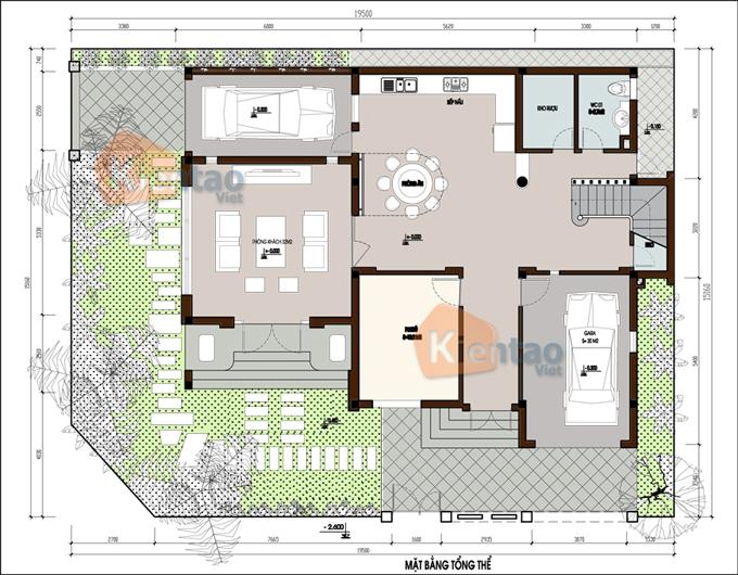 Mẫu thiết kế biệt thự đẹp 3 tầng sang trọng. 1