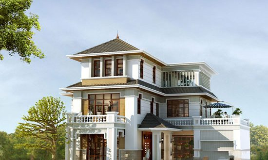 Mẫu thiết kế biệt thự đẹp 3 tầng sang trọng. 4