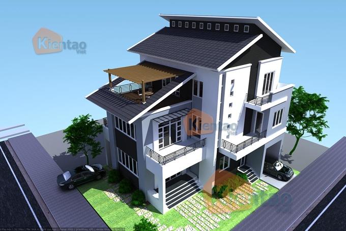 Mẫu thiết kế biệt thự đẹp 3 tầng sang trọng