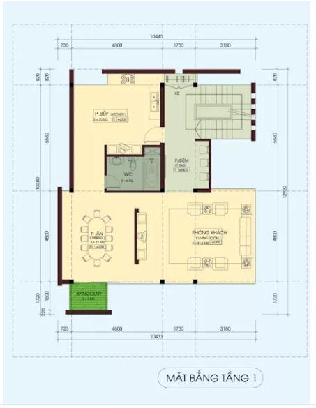 Mẫu thiết kế biệt thự đẹp 4 tầng lộng lẫy. 3
