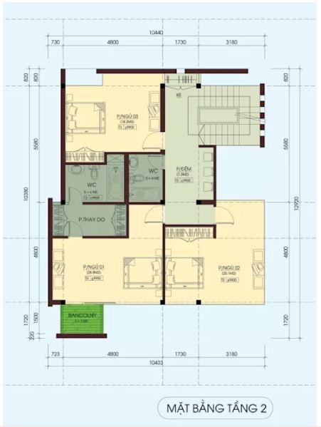 Mẫu thiết kế biệt thự đẹp 4 tầng lộng lẫy. 4