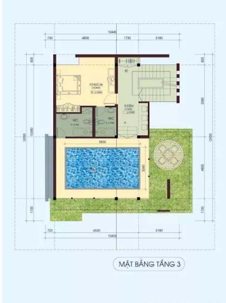 Mẫu thiết kế biệt thự đẹp 4 tầng lộng lẫy. 5