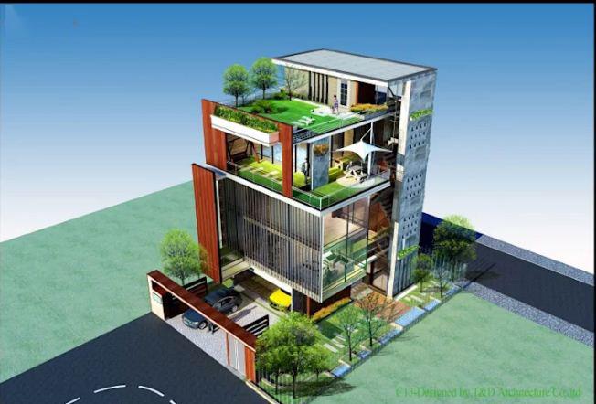 Mẫu thiết kế biệt thự đẹp 4 tầng lộng lẫy. 7
