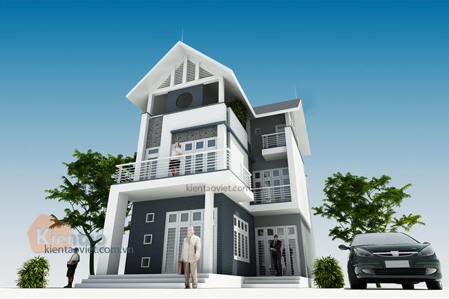 Mẫu thiết kế biệt thự đẹp hiện đại ấn tượng