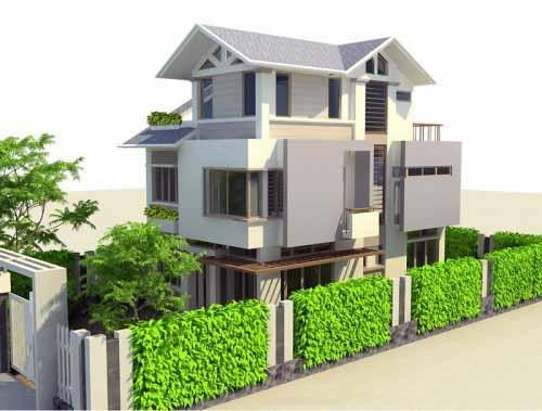 Mẫu thiết kế biệt thự đẹp kiểu sân vườn