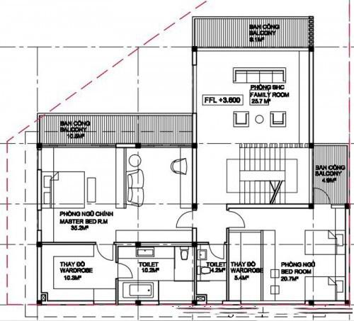 Mẫu thiết kế biệt thự đẹp nhà vườn 3 tầng. 2